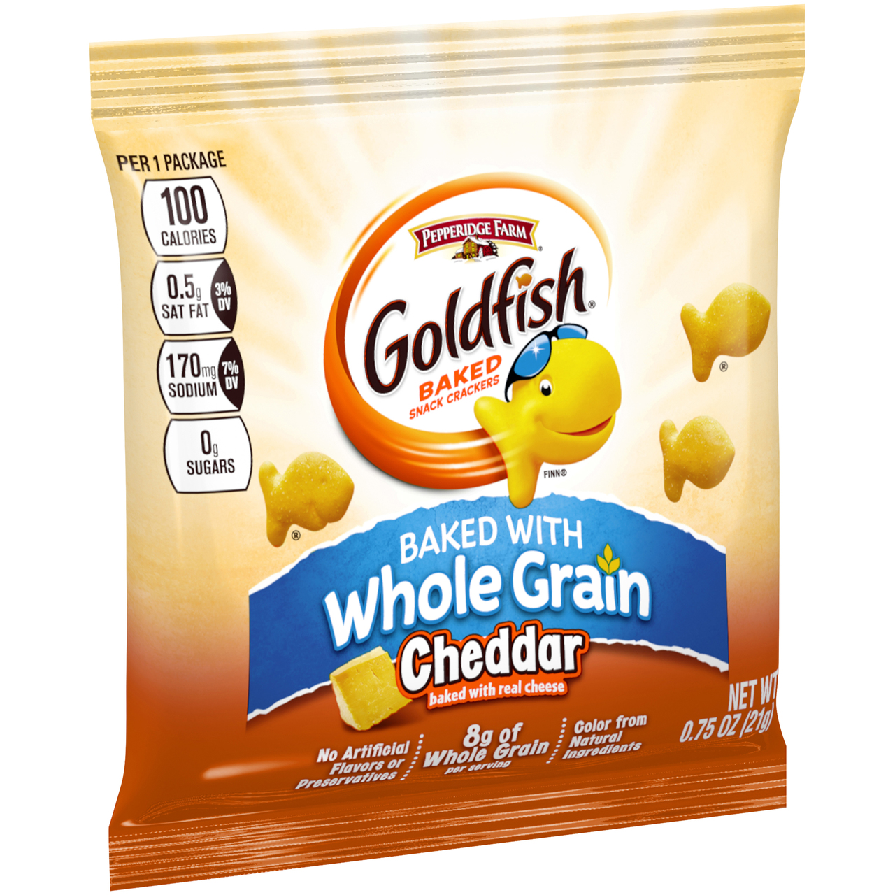 300 PACKS : Pepperidge Farm Whole Grain Cheddar Goldfish - 0.75 oz. bag