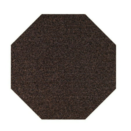 Saturn collection pet friendly area rugs with Rubber Marine Backing for Patio, Porch, Deck, Boat, Basement or Garage with Premium Bound Polyester Edges Chocolate  15'x15' Octagon ()