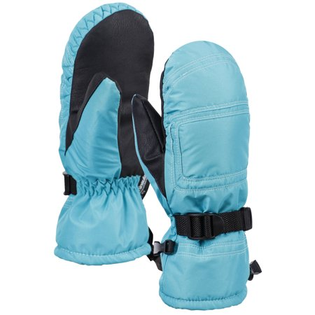 ANDORRA Women's Winter Snow 3M Thinsulate Waterproof Outdoor Ski Mittens,S/M,Blue