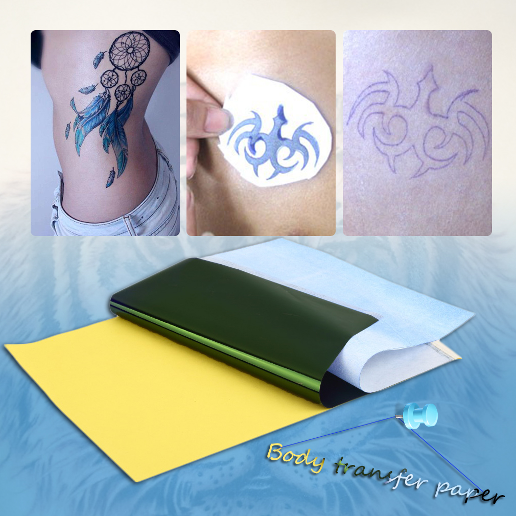 10X A4 Tattoo Transfer Carbon Paper Supply Tracing Copy Body Art Stencil Sticker by Yellow