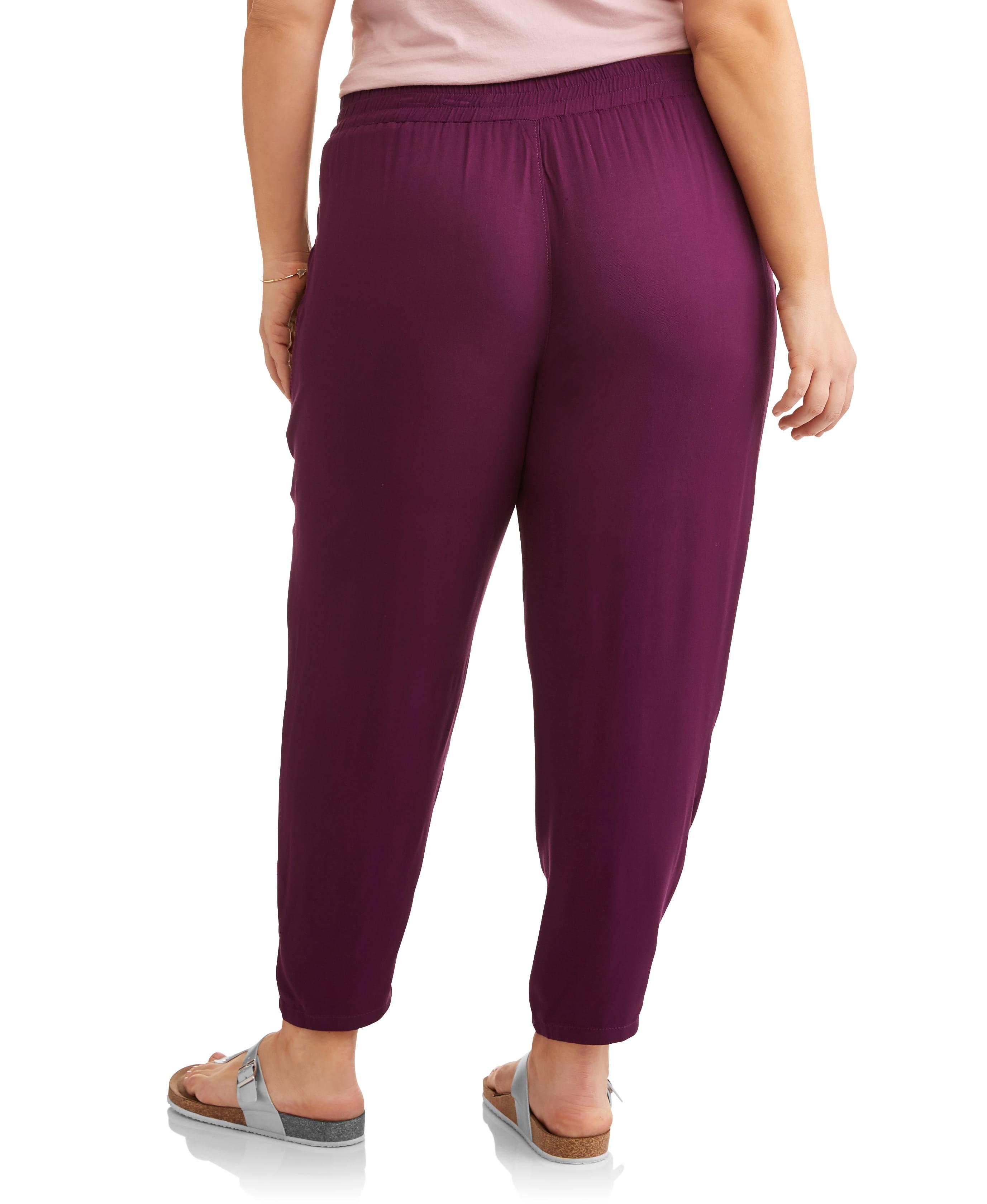 9ed3e407501f6 Terra   Sky - Women s Plus Drawstring 2 Pocket Soft Pants - Walmart.com