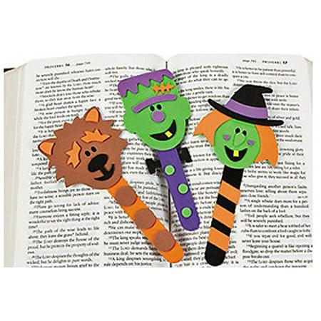 Halloween Character Bookmark Craft Kit (1 Dozen) - Homemade Halloween Bookmarks