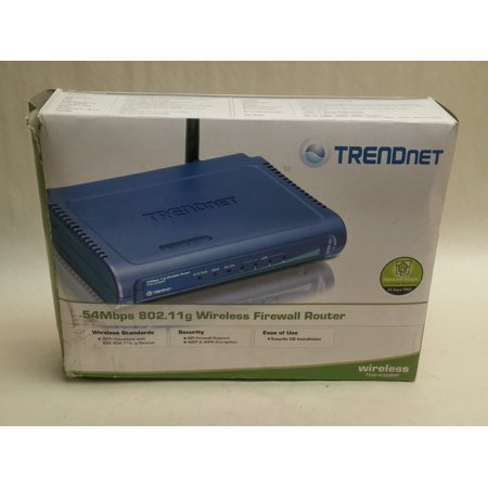 Refurbished TRENDnet TEW-432BRP 54Mbps 4 Port 802.11g  Wireless Firewall (Best Router Firewall 2019)