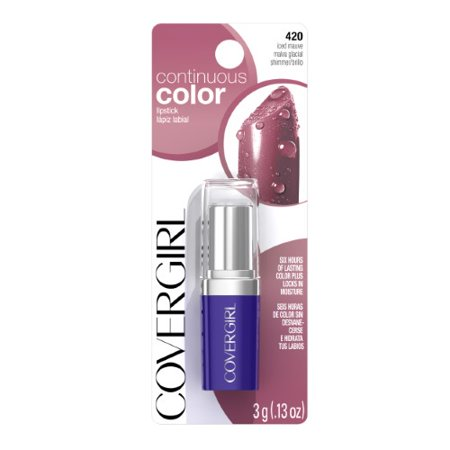 CoverGirl Continuous Color Lipstick, Iced Mauve (Cover Girl Continuous Wear)