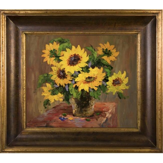 Artmasters Collection KM89435-40G Sunflowers IV Framed Oil Painting