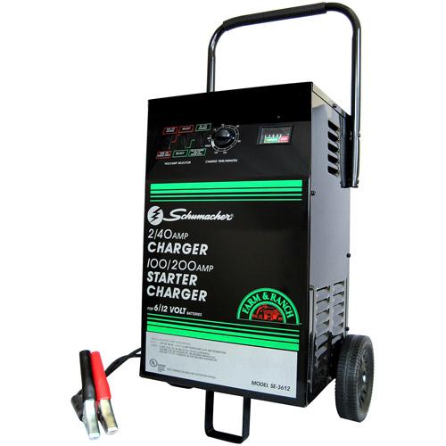 Schumacher 200/100/40/2 Amp Manual Wheel Starter/Charger