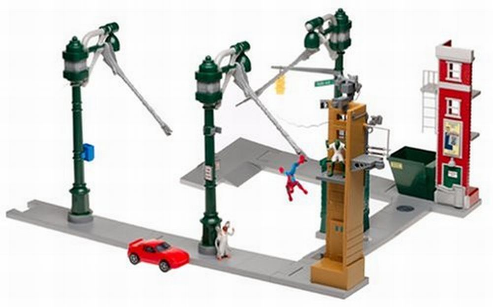 Marvel Deluxe Spider-Man Stunt System Spiderman Action Hero Swings From Web by