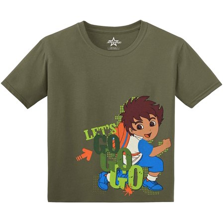 JH Design Group Boys Go, Diego, Go! Lets Go Go Go Cotton T-Shirt (Go Diego)