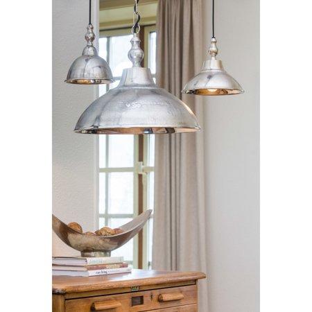 Urban Designs  Aniek 15.5-Inch Round Raw Nickel Hanging Lamp ()