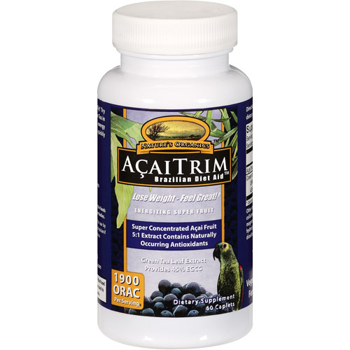 Nature's Organics: Acaitrim Caplets Dietary Supplement, 60 pk