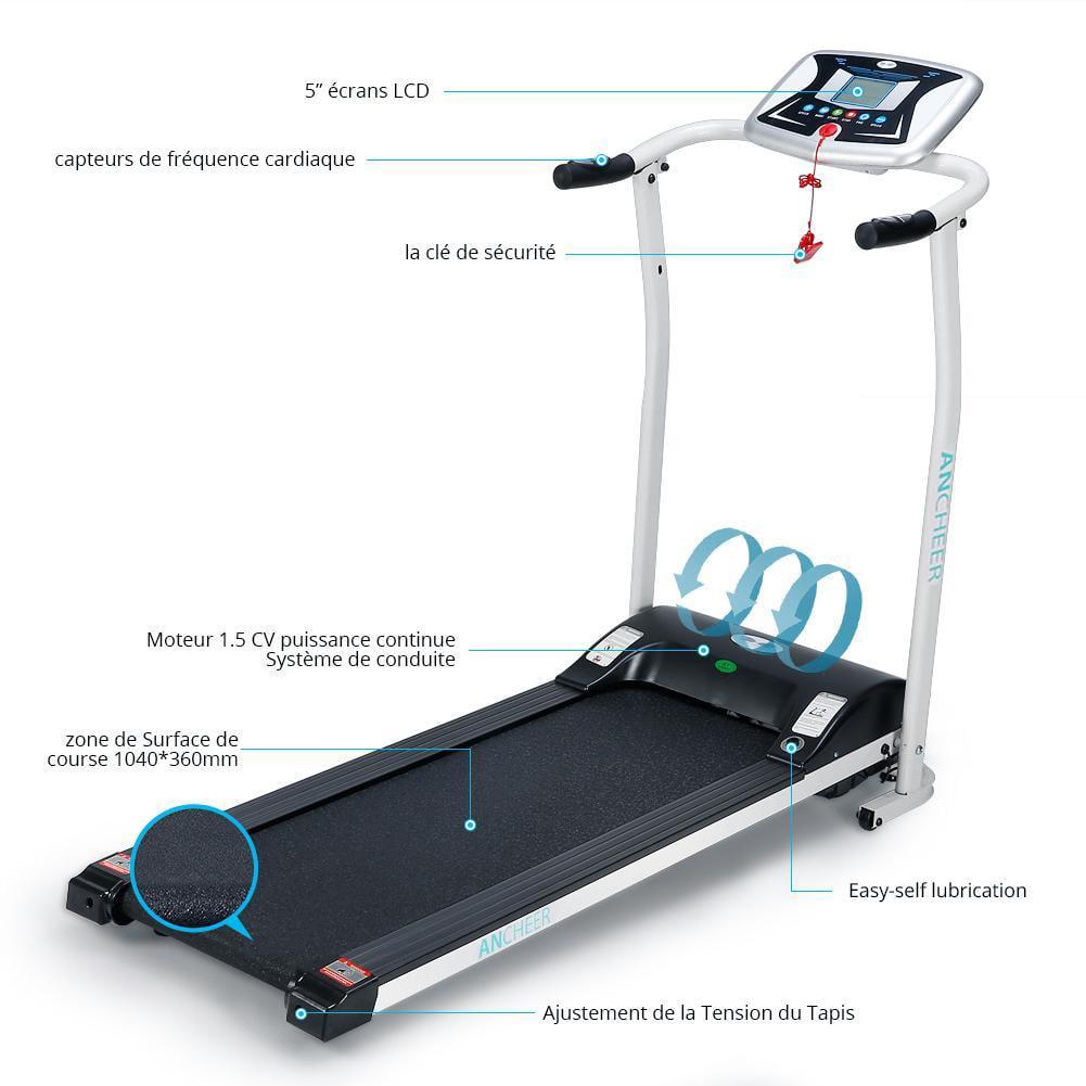 Mini Folding Electric Treadmill Portable Walker Training ...