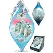 G Debrekht Holiday LED Polar Bears Glass Ornament Drop