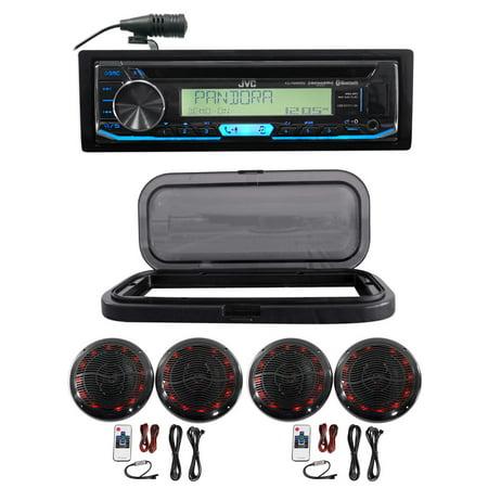 JVC Hot Tub Audio System w/Stereo Bluetooth Receiver+4) 6.5