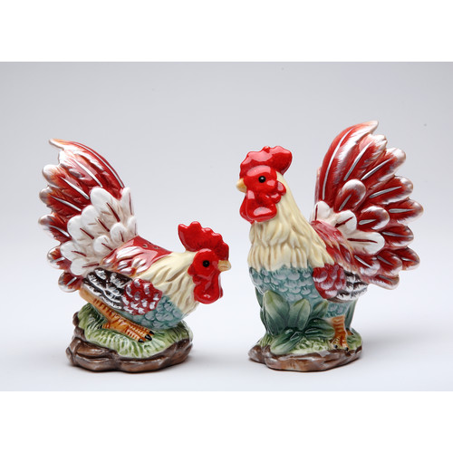 Cosmos Gifts Rooster Salt and Pepper Set by Cosmos Gifts