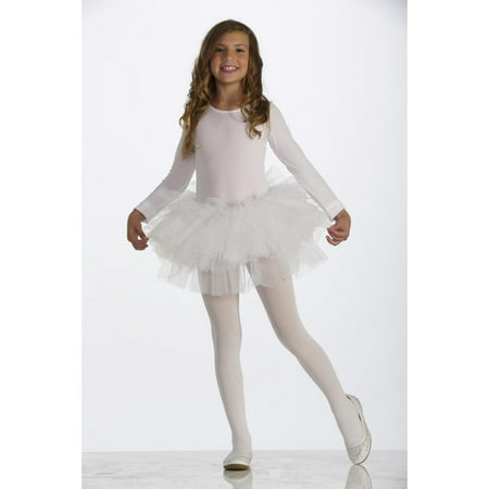 White Child Tutu Halloween Costume - Homemade Halloween Costumes With Tutus