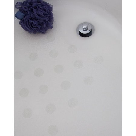 Bath Tub Anti-slip Discs - Non Skid Adhesive Shower Stickers Appliques Treads (Clear) By NonSlip Bathtub Mats