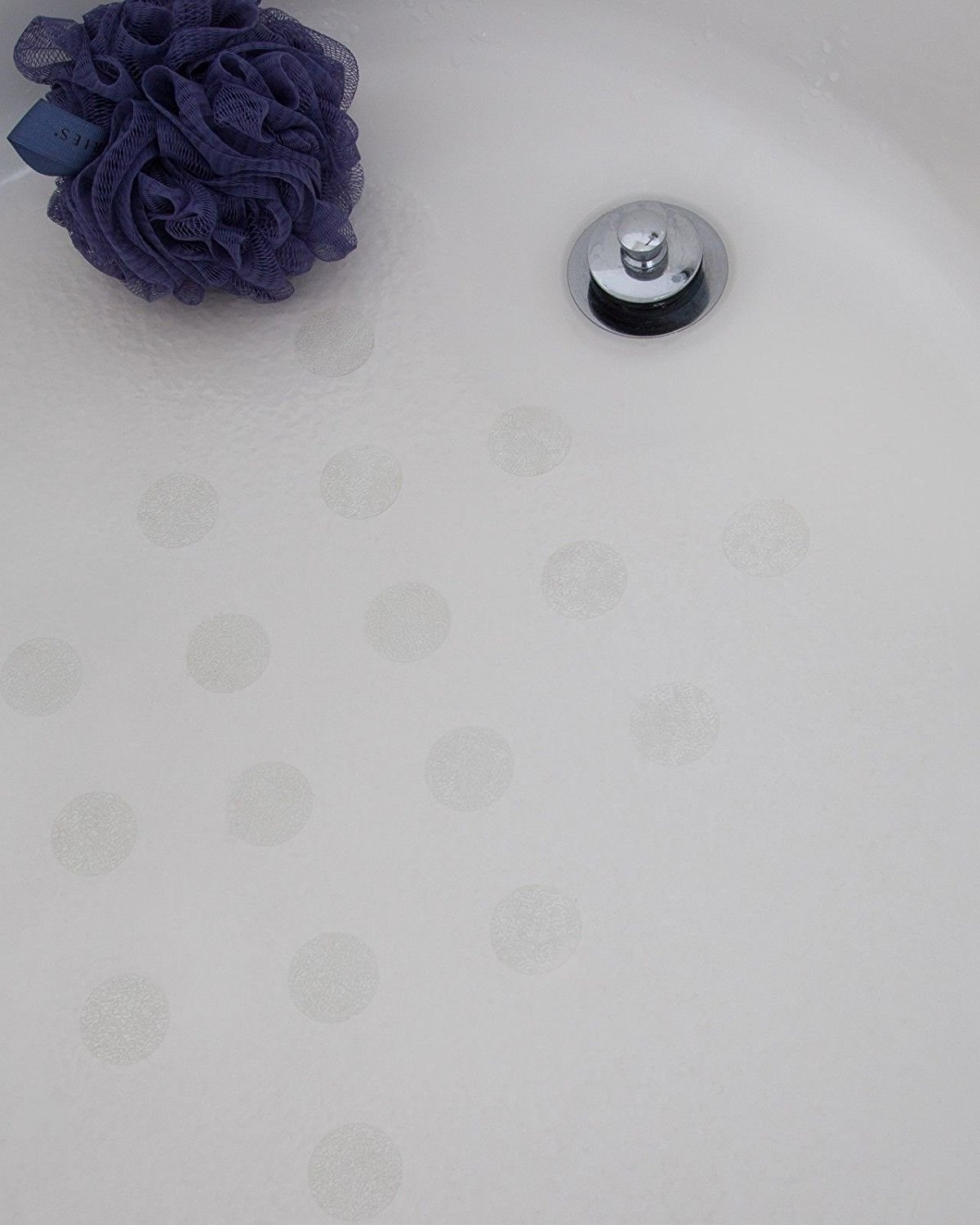 Bath Tub Anti Slip Discs   Non Skid Adhesive Shower Stickers Appliques  Treads (Clear