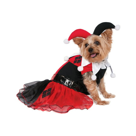 Dc Superheroes Harley Quinn Pet Dog Cat Tutu Villain Costume