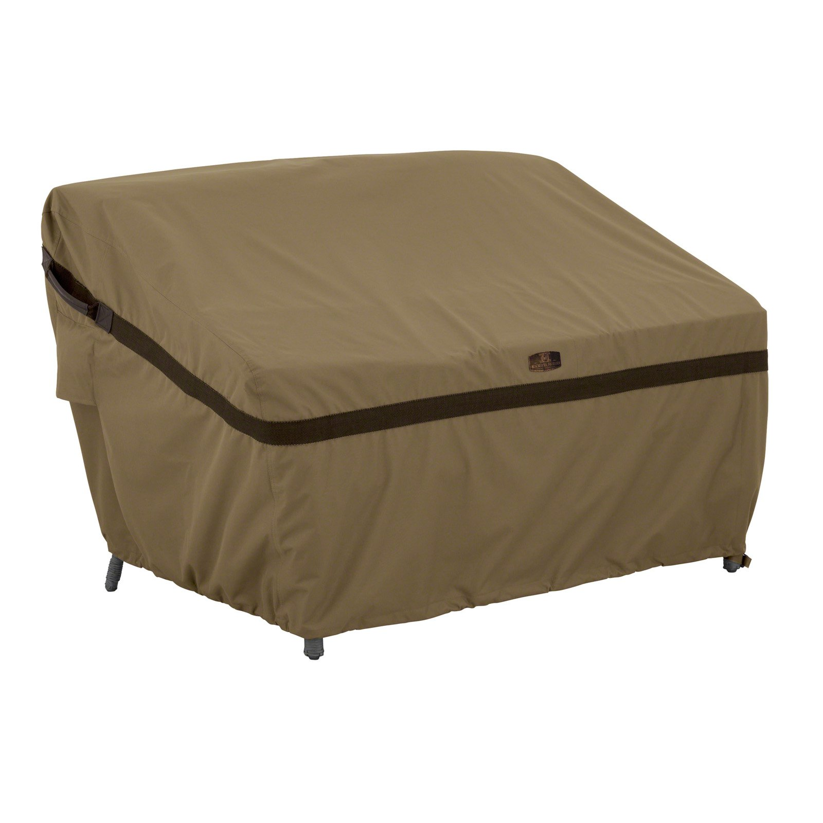 Classic Accessories Hickory Patio Sofa Loveseat Furniture Storage Cover Small Tan Com