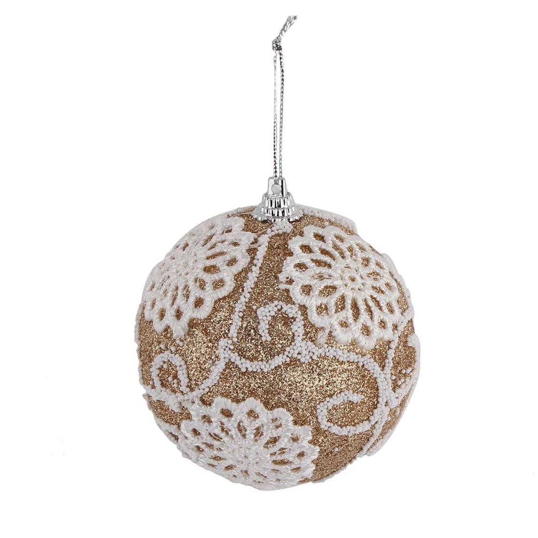 Unique Bargains Home Christmas Tree Applique Decor Artificial Collectible Festive Hanging Ball