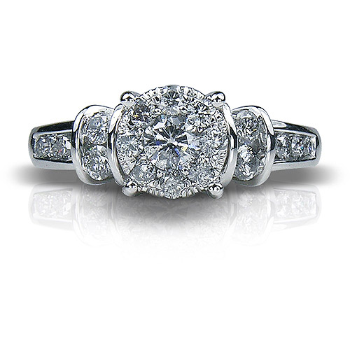 1 Carat T.W. Round Diamond 10kt White Gold Engagement Ring by Unique Designs Inc.