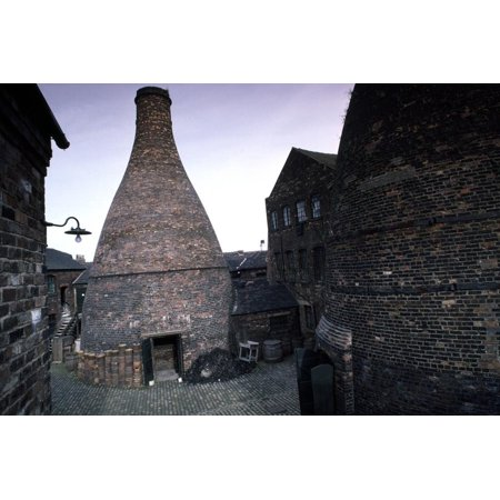 - Kiln for Firing Ceramics, Gladstone Pottery (18th Century), Longton, England, United Kingdom Print Wall Art