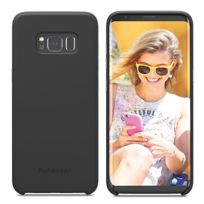 PureGear 61847PG SoftTek Cellphone Case for Samsung S8, B...
