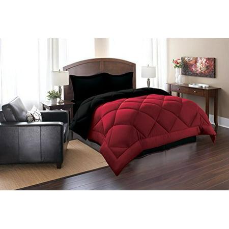 Close Out Deal , 3pc Comforter Set-King/Cal King, Black/Burgundy