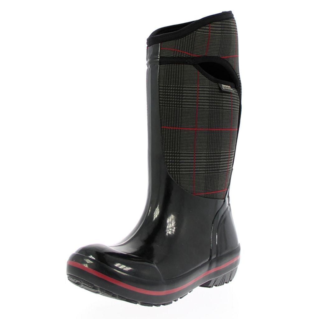 Bogs Boots Womens Plimsoll Prince of Wales Tall WP Rubber...