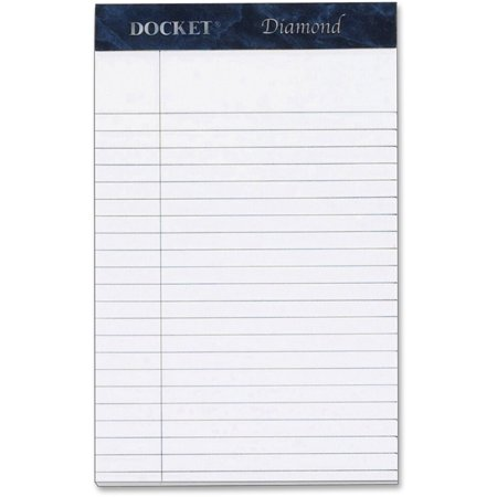 TOPS, TOP63981, Docket Diamond Writing Tablet - Jr.Legal, 1 Box