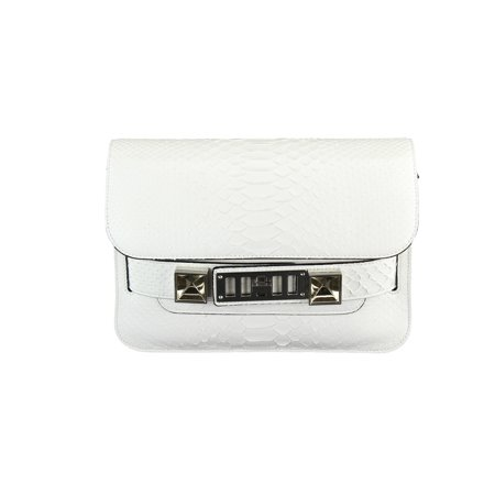 Proenza Schouler PS11 Mini Classic Python White Womens Shoulder Bag