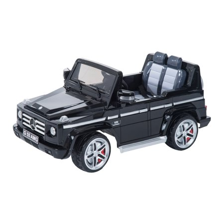 soozier aosom mercedes benz g55 kids 12v battery powered truck