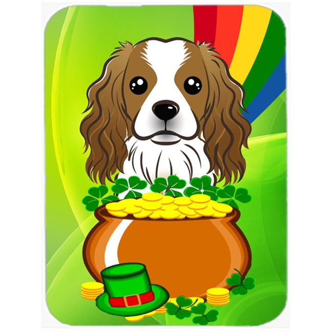 Cavalier Spaniel St. Patricks Day Mouse Pad, Hot Pad or Trivet