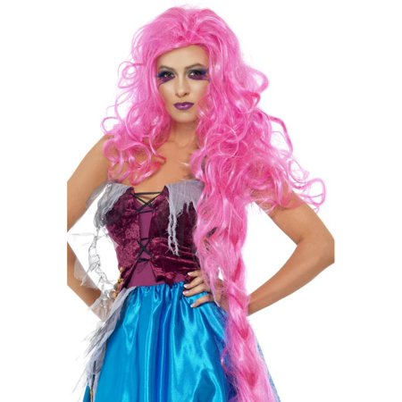 Rapunzel Repulsive Hot Pink Woman's Costume Wig](Rapunzel Costume And Wig)