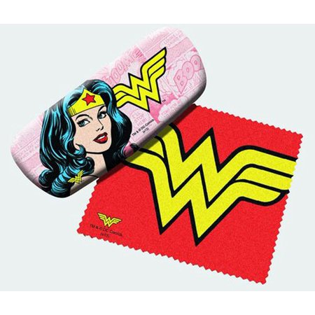 Wonder Woman Eyeglass Hard Case w/ Matching Lens Cloth, Measures 6 x 2 1/2 x 1 1/2 inches By (How To Measure Eyeglass Lenses)