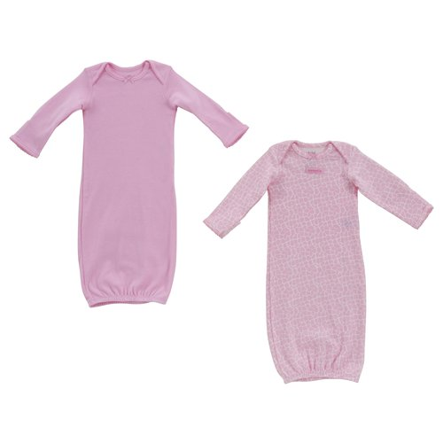 Child of Mine Pink Layette Gown, Girl, 2-Pack