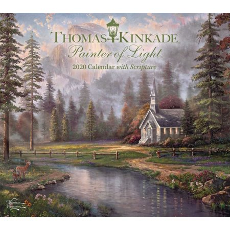 Thomas Kinkade Painter of Light with Scripture 2020 Deluxe Wall