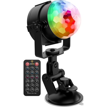 Zekpro Disco Ball Lights [free Wall Holder] 3 Modes - Portable Multi Color Led Party Lights - Christmas Led Lights Indoor/outdoor [sound Activated] Wedgeport Three Light