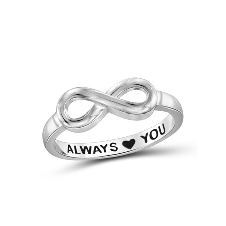 Always Love You Sterling Silver Infinity Ring