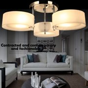 Modern Crystal 3 x 40W Light Round Acrylic Chandelier Pendant Lamp Flush Mount Ceiling Light Fixture