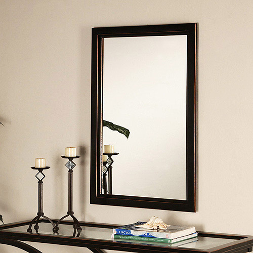 Vogue Wall Mirror, Black and Copper Finish