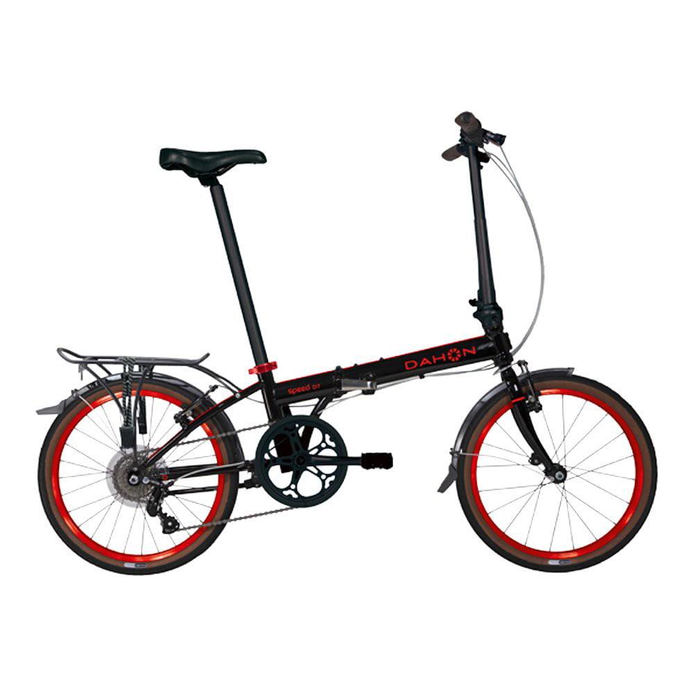 Dahon Bikes Speed D7 7-Speed Light Portable Street Folding Bicycle, Black & Red