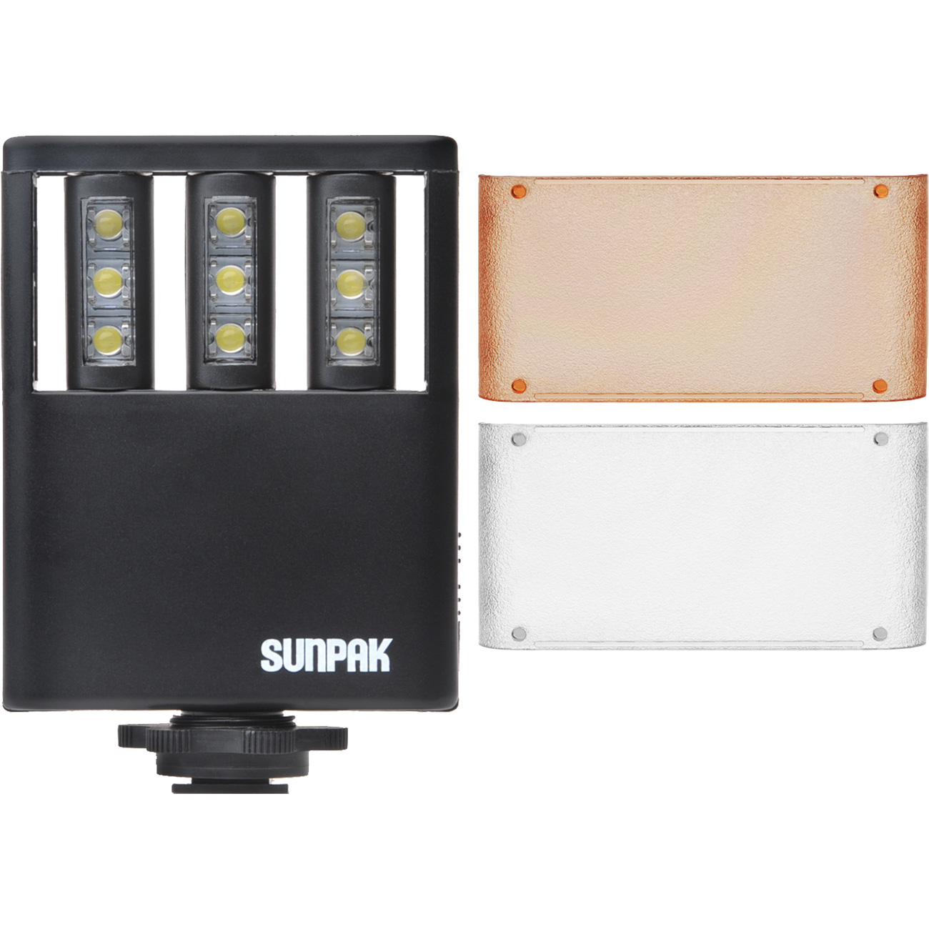 Sunpak LED 9 Video Light - Coverage 609.60 mm to 4572 mm @ 35mm Film Format - 3 x Batteries Supported - AAA