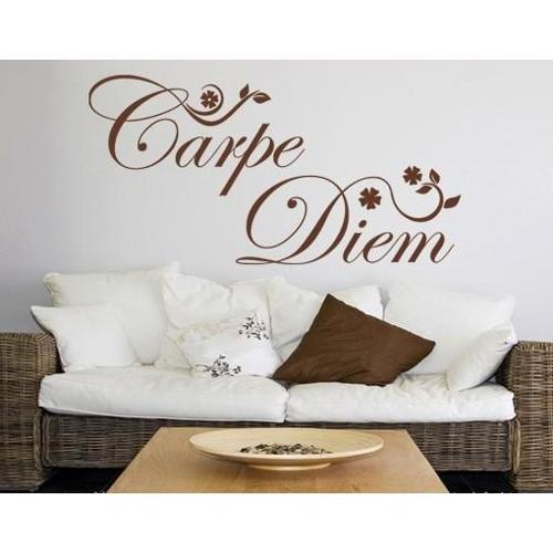Style and Apply Carpe Diem-flowers Wall Decal