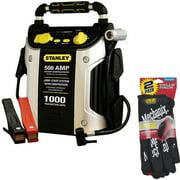Stanley 1000-Amp Jump Starter & 2-Pair of Mechanix Gloves Bundle