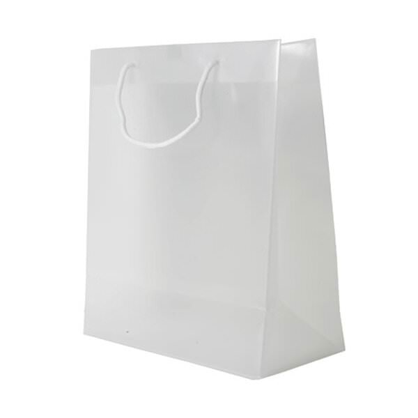 JAM Translucent Shopping Bag - 10 1/2 x 12 1/2 x 5 - Clea...