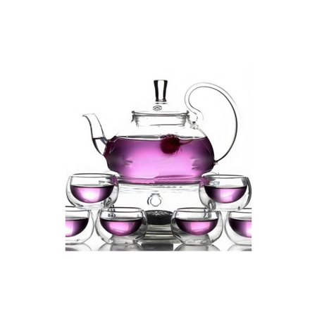 Teology Teaology Fiore Borosilicate Blooming Teapot And Glass Set ()