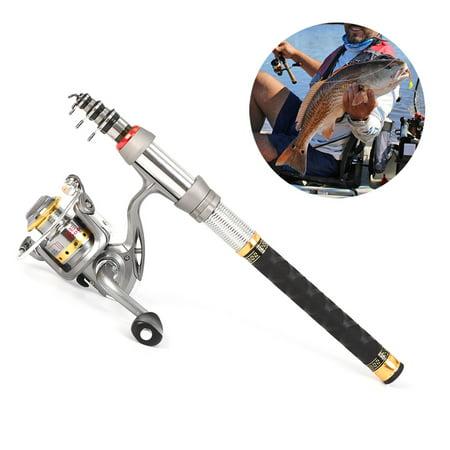 Reel Attachment Kit - Lixada Telescopic Fishing Rod and Reel Combo Full Kit Spinning Fishing Reel Gear Organizer Pole Set
