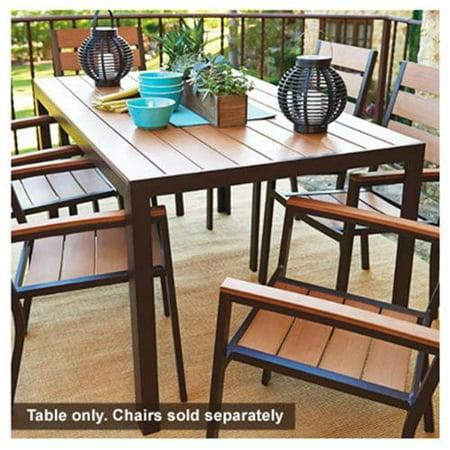 Jack Post Ha 820 Hudson Bay Patio Collection Dining Table Polyslat Wood Aluminum