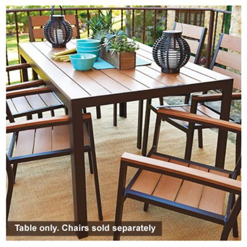 Jack Post HA 820 Hudson Bay Patio Collection Dining Table, Polyslat Wood U0026  Aluminum